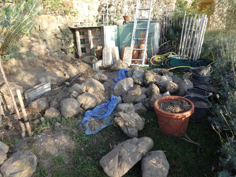 1herb garden stones