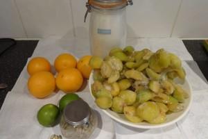 The subtle plum and orange for autumn