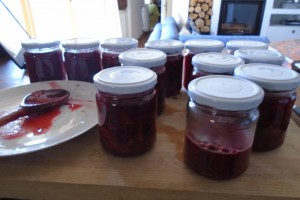 Strawberry and rose petal jam