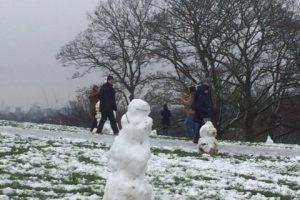 London under snow