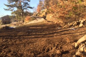 Levelling soil