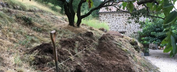 Excavating a new garden